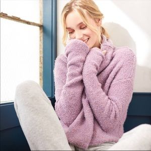 Free People Purple Stormy Cowl Neck Sweater